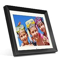 Aluratek (ADMPF415F) 15 بوصة إطار صور رقمي عالي الدقة مع ذاكرة 2 جيجا بايت مدمجة وريموت (دقة 1024 x 768) تطبيق ابيض، صور / موسيق/ فيديو