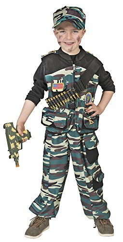 Forces Junge Special Kostüm - Kampftruppen Soldat Kostüm für Kinder - Gr. 128