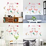 Demana Wandaufkleber Flamingo Kinder Kindergarten Vergnügungspark Wanddekoration Landschaftsbau Wandbild Aufkleber