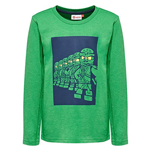 Lego Wear Jungen Thomas Langarmshirt, Grün (Green 867), (Herstellergröße: 116) - Jungen Dunkel Grün