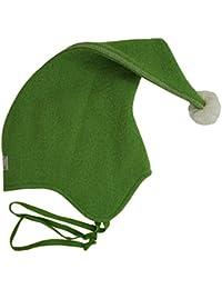 PICKAPOOH Zipfelmütze Wichtel für Kinder und Erwachsene aus Wollwalk kbT oder Wollfleece kbT