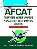 AFCAT (Air Force Common Admission Test): Previous Years' Papers & Practice Test Papers (Solved): Previous Years' Papers and Practice Test Papers (Air Force Common Admission Test - Solved)