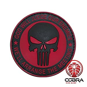 God Will Judges Our Enemies * We\'ll arrange the meeting 3D PVC Patch with velcro
