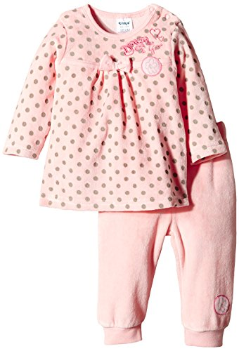 Dirkje Baby - Mädchen, Unterwäsche-Set, 2-pce babysuit, Rosa (light Pink/sand), 62 - 2pce Set
