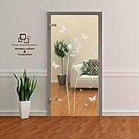 Pusteblume als Aufkleber Glasdekor Glastür Tür Aufkleber Fensterfolie Wohnzimmer