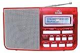 Dual Schlagerparadies Digitalradio Transparent (UKW/DAB(+)-Tuner, Sendersuchlauffunktion, Festspeichertasten, Kopfhöreranschluss (3,5 mm), LCD-Display) Rot