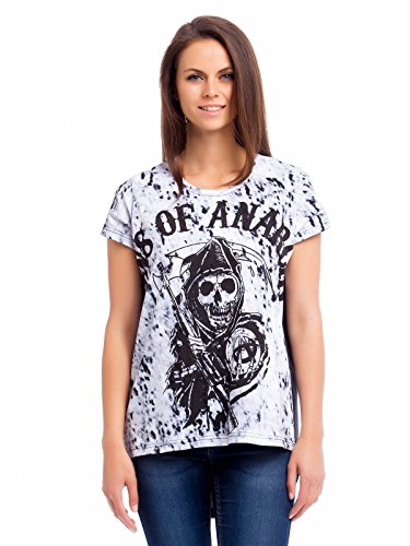 Sons Of Anarchy Reaper Dyed Maglia donna nero/bianco S