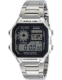 Casio - AE-1200WHD-1A - Sports - Montre Homme - Quartz Digital - Cadran LCD - Bracelet Acier Gris
