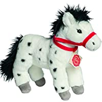 Hermann Teddy Collection 902478 28 cm Dapple Grey Horse Standing Plush Toy