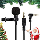 Mikrofon für Smartphone, Omnidirectional Kondensator-Mikrofon für iPhone & Android Smartphone,...