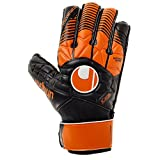 Uhlsport Uomo Eliminator Soft Advanced Guanti da portiere, Uomo, ELIMINATOR SOFT ADVANCED, schwarz/dark orange/Weiß