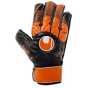 Uhlsport Uomo Eliminator Soft Advanced Guanti da portiere, Uomo, ELIMINATOR SOFT ADVANCED, schwarz/dark orange/Weiß