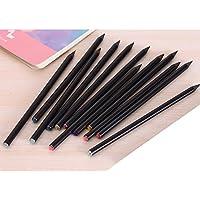 GOOTRADES Paquete de 12Pcs Lápiz HB Color Negro para Escribir Pintar DIY Regalo a Niños Amigos Adultos Color de Diamante Arriba Al Azar