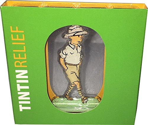 TIM UND STRUPPI Relief-Figur aus Metall - ca. 7,5cm - TIM im Kongo