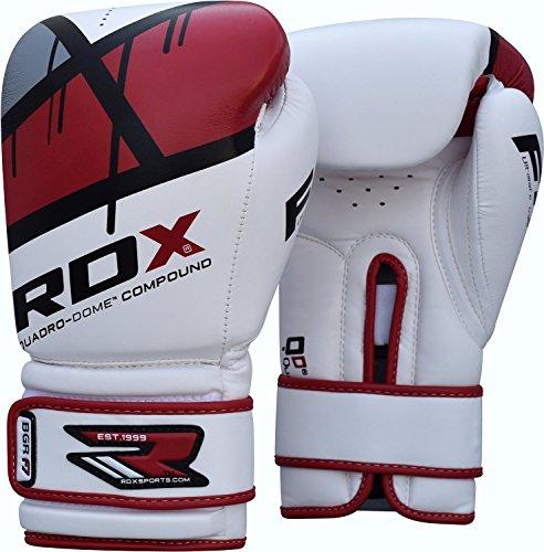 RDX Training Boxhandschuhe Kunstleder Sparring Kickbox Handschuhe Muay thai Sandsackhandschuhe Rot 12oz