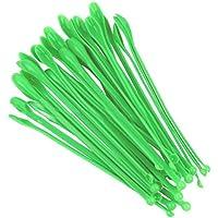UKCOCO Cucharas de muestreo de plástico Mini cucharadas de laboratorio Mezclas de espátulas de laboratorio 50 Piezas (Verde)