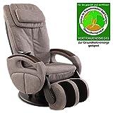 aktivshop Massagesessel »Komfort Deluxe« mit Shiatsu-Massagefunktion und Transportrollen Relaxsessel (Stoff Graumeliert)