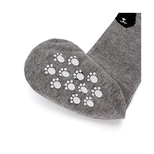 LACOFIA 6 Pares de calcetines largos de altos para bebé niñas Medias de algodón de punto princesa infantiles niña 4