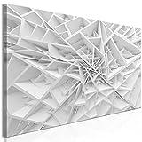 murando - Bilder 3D Effekt 150x50 cm - Leinwandbild - 1 Teilig - Kunstdruck - Modern - Wandbilder XXL - Wanddekoration - Design - Wand Bild - Grau weiß a-B-0039-b-a