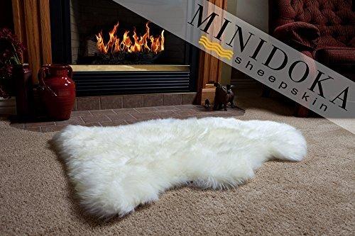 Desert Breeze Distributing Neuseeland Schaffell Elfenbeinfarben Teppich, Dicke Weiche Luxuriöse natürlicher Wolle, von Minidoka Pelz Winter Lamb Elfenbeinfarben - Weichen Schaffell