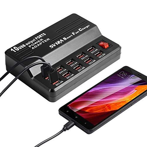 Nrpfell Eu-stecker 10 Ports USB Ladeger?t 3,5A Schnellladung Für iPhone iPad Mehrere Ladeger?t Handy Universal Adapter - Bei & T-handy