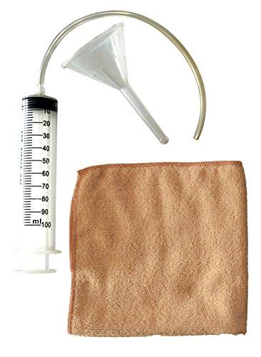Güde 95367 RM Ölwechsel-Kit (Trichter, Öl-Spritze, Mikrofasertuch 30x30 cm)