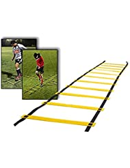 ELEGIANT 8 Rung dauerhafte Koordinationsleiter Trainingsleiter Geschwindigkeit Leiter Agility Ladder für Fußball, Geschwindigkeit, Fußball Fitness Füße Training