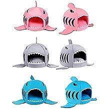 Perfekt Große Hai Motive Katzenbett Mit Kissen Hundehaus Für Drinnen Waschbar 42 X  42 X 37cm