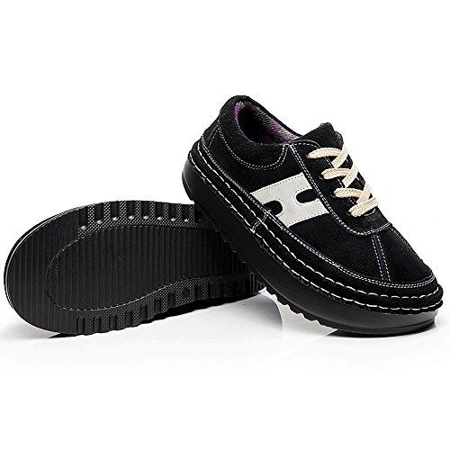 Shenn - Chaussures De Sport En Daim À Plateforme Confortable Et Décontractée Pour Femmes