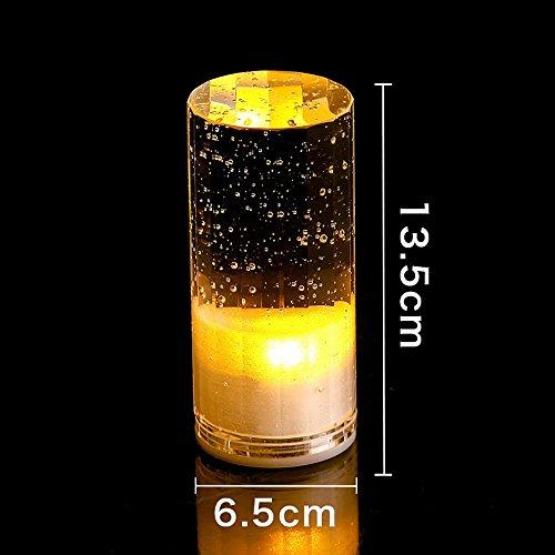LongYu Nuit lumière Cristal Bulle Moderne Minimaliste LED coloré discothèque Bouton Bar Lampe KTV Bar Restaurant lumières carré Cristal Lampe de Charge Bar Lampe créative incassable (Color : Yellow)