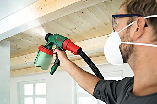 Bosch Universal PFS 3000-2 0603207100 Paint Gun for Wood and Wood Stains, Walls, Varnish and Lacquer – With 1,000 ml Reservoir, 2 Tubes, Case and Belt