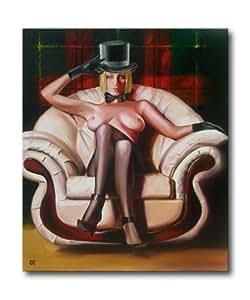 Erotic Art - peinture érotique - charmante belle femme nue sous la présidence de - peinte à la main - d'art photos peinture à l'huile sur toile - tableaux originaux - peinture fille nue sexi