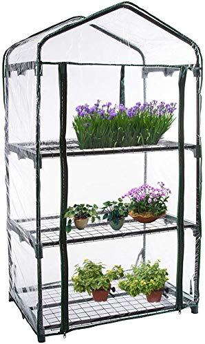 Luyao 3-Layer Transparent Mini-Plant Glashaus Plastik Schuppen Haus Garten Gewächshaus Pflanze Kultivierung Werkzeug - 01
