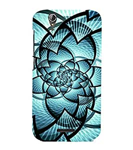 Fuson Designer Back Case Cover for Acer Liquid Z630 :: Acer Liquid Zade Z630S (Blue designer pattern theme)