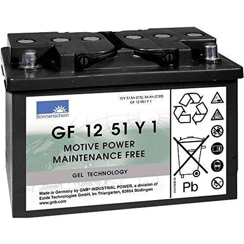Batterie Plomb-gel 12 V 51 Ah GNB Sonnenschein GF 12 051 Y 1