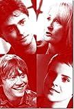 Daniel Radcliffe, Emma Watson, Rupert Grint and J. K. Rowling 'The Unsigned' Poster Photo Oeuvre Imprimée Unique Cadeau 30x20 cm affiche