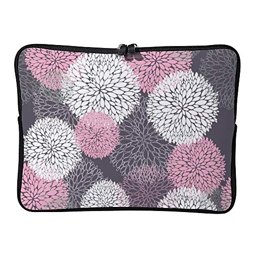 DKISEE Abstract Flowers Laptop Sleeve Case Bag Cover Compatible 15 inches Notebook MacBook Air MacBook Pro - Hp-laptop-disney Cover
