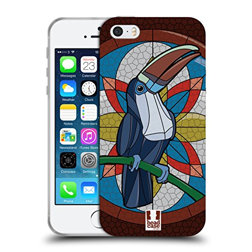 Head Case Designs Toucan Mosaic Animals Soft Gel Case for iPhone 5 iPhone 5s iPhone SE