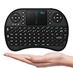 92 keys, 2.4GHz wireless Keyboard with Touchpad. Touchpad DPI adjustable functions. Built-in high sensitive smart touchpad with 360-degree flip design. Mini QWERTY keyboard with multimedia control keys and PC gaming control keys. Auto sleep and auto ...