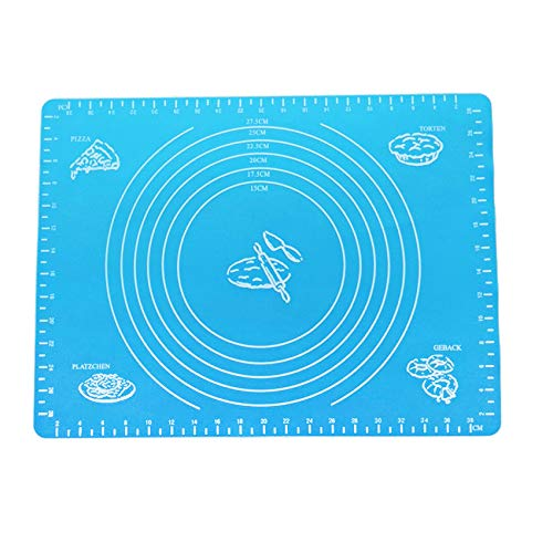 EBILUN Antihaft-Silikon-Rollteig-Liner-Pad, Wiederverwendbare Antihaft-Rollenkneten-Brett-Matten-Gebäck-Kuchen-Paste-Mehl-Tabellen-Backen-Blatt-Pad blau