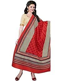 Heartily Cream Bhagalpuri Silk Straight Suit With Dupatta.