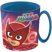 BBS PJ Masks Taza para Microondas, Plástico y Polipropileno, Azul y Rojo, 10.5x8.5x9 cm