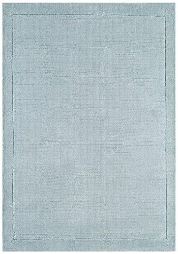 Alfombra salon sala de estar Carpet moderno Design YORK HANDLOOM UNI RUG 100% Lana 120x170 cm Rectangular Azul   Alfombras barata online comprar