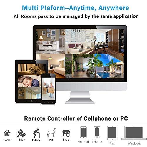 Telecamera di Sorveglianza IP camera wifi Rottay 720P HD wireless,Obiettivi Ruotabile, Audio Bidirezionale, Modalit¨¤ Notturna a Infrarossi, Controllo Remoto, Compatibile con iOS e Android e PC - 7