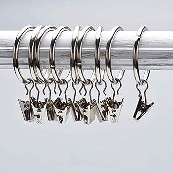 Inner Dia Einfach /öffnen und Schlie/ßen f/ür H/ängende Kleidung FishMM 30/St/ück Silber Metall rostfrei Vorhang Clips mit Ringen Face Cream Stoff Vorhang 25mm Stiefel Foto