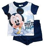 Mickey Mouse Kollektion 2018 Schlafanzug 68 74 80 86 92 Jungen Shorty Pyjama Shortie Disney Maus (Blau, 80)
