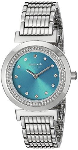 Johan Eric JE1200–04–006B Djursland analógico plateado reloj de cuarzo japonés de la mujer