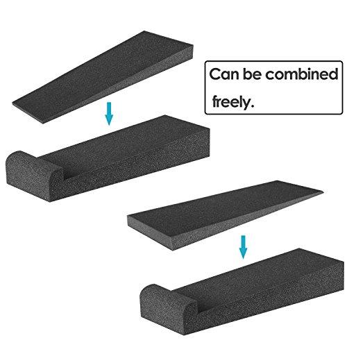 Neewer®4 Stück Studio-Monitor Akustik Isolierung Kissen Dämpfung Rückzug Stabilisator Lautsprecher Podeste, 12