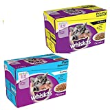 Whiskas Kitten Wet Cat Food Selection in Jelly Fish 6 pouches/Gravy Poultry 6