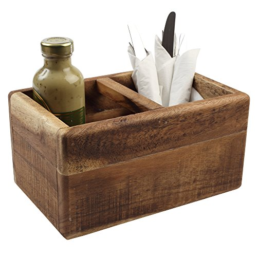 T&G Woodware Nordic Table Trug - Single - Table Caddy, Table Tidy, Condiment Caddy, Cutlery Holders